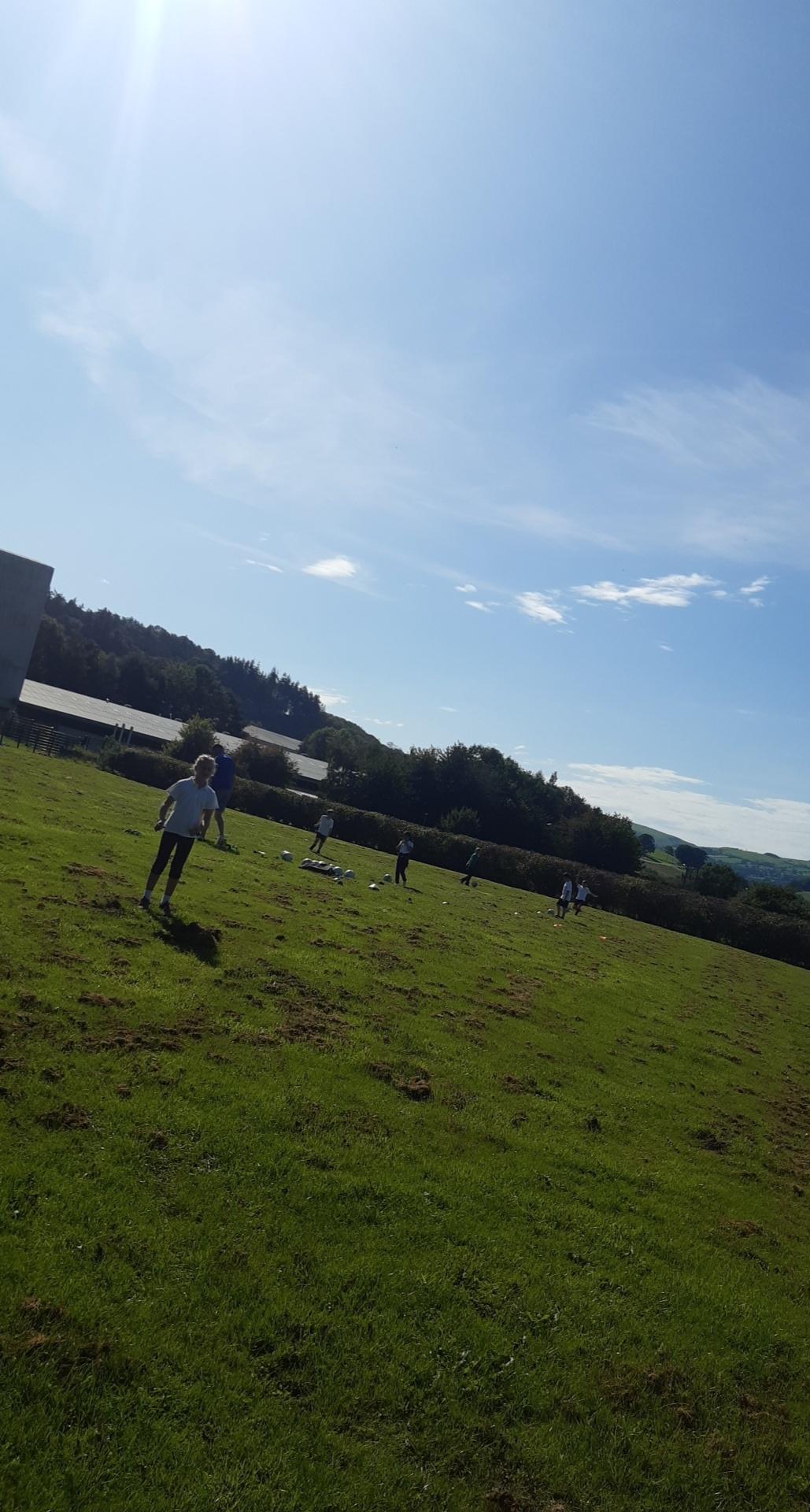 Children in a field